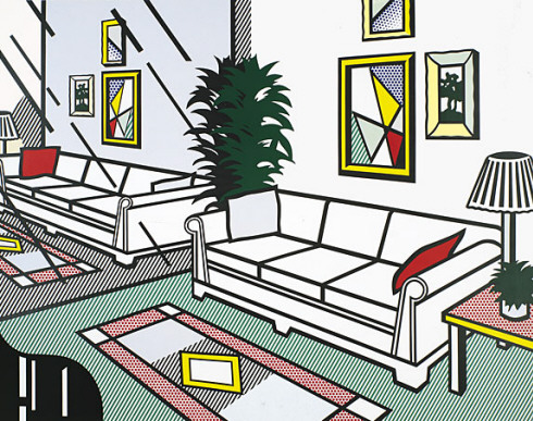 Roy Lichtenstein - Interior with Mirrored Wall 1991