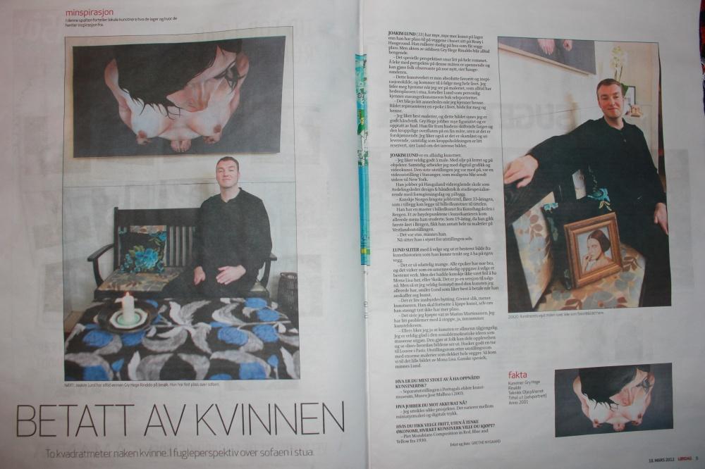 Min Inspirasjon -  Grethe Nygaard - Lørdagsmagasinet i Haugesunds Avis 10.03.12