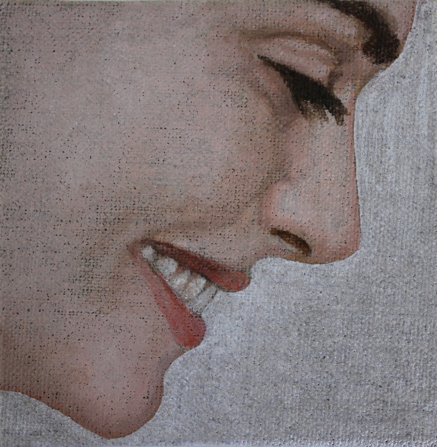 Smile 2012 - 10x10cm - Oil on canvas