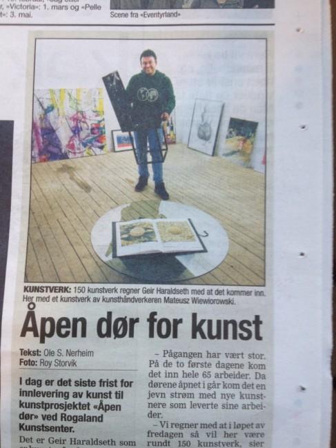 Åpen dør for Kunst - Inngang 13 - presse