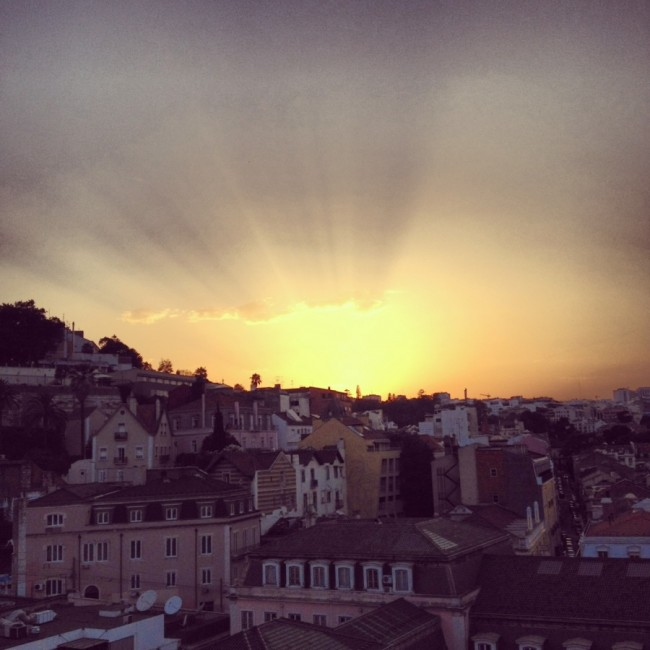 Sunset over Lisboa
