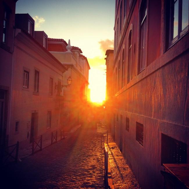 Lisboa - Sunset in Bairro Alto by Joakim Lund