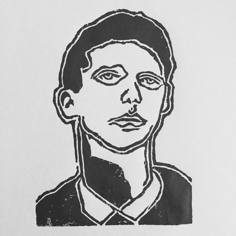 "Joakim Lund ""Him"" - Linocut 2016"