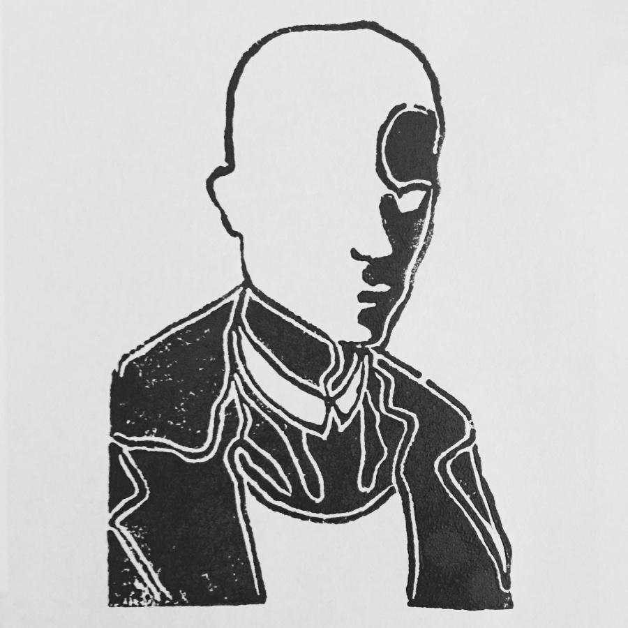 "Joakim Lund ""Man"" - Linocut 2016"