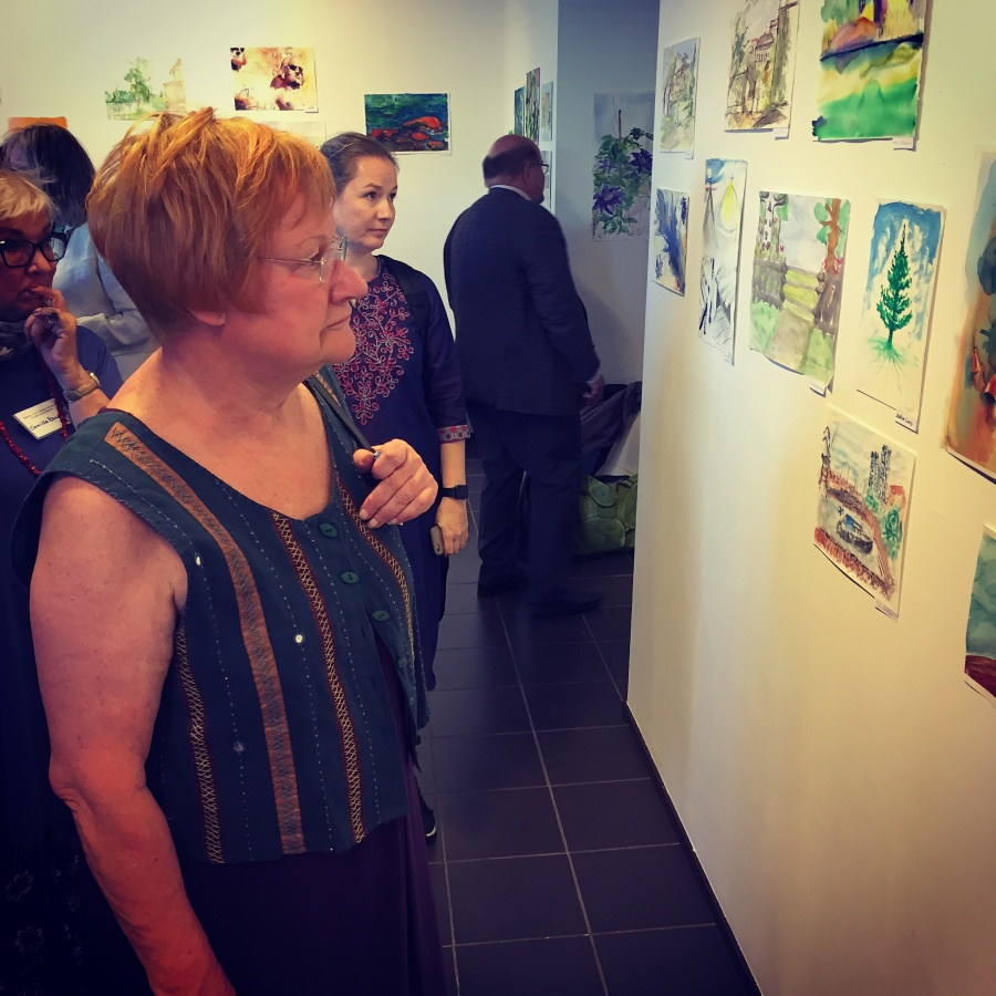 Tarja Halonen opening the Exhibition in Helsinki - by Joakim Lund 2017
