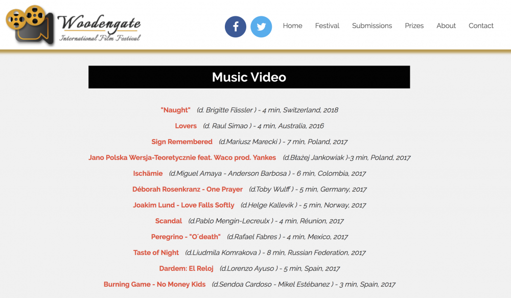 Joakim Lund - Love Falls Softly - Selected for Best Music Video - Woodengate Film Festival - Romania - 2018