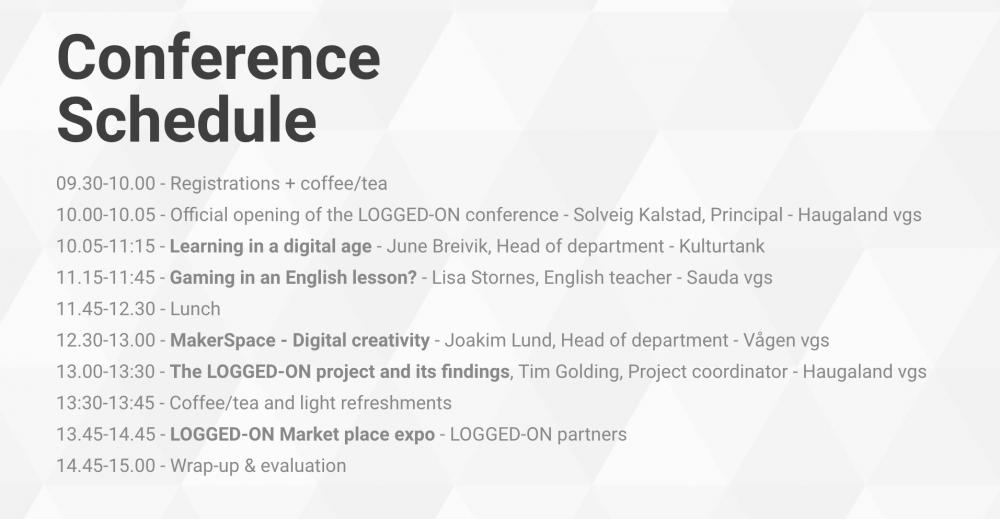 Logged-On Conference - Joakim Lund - Keynote Speaker III