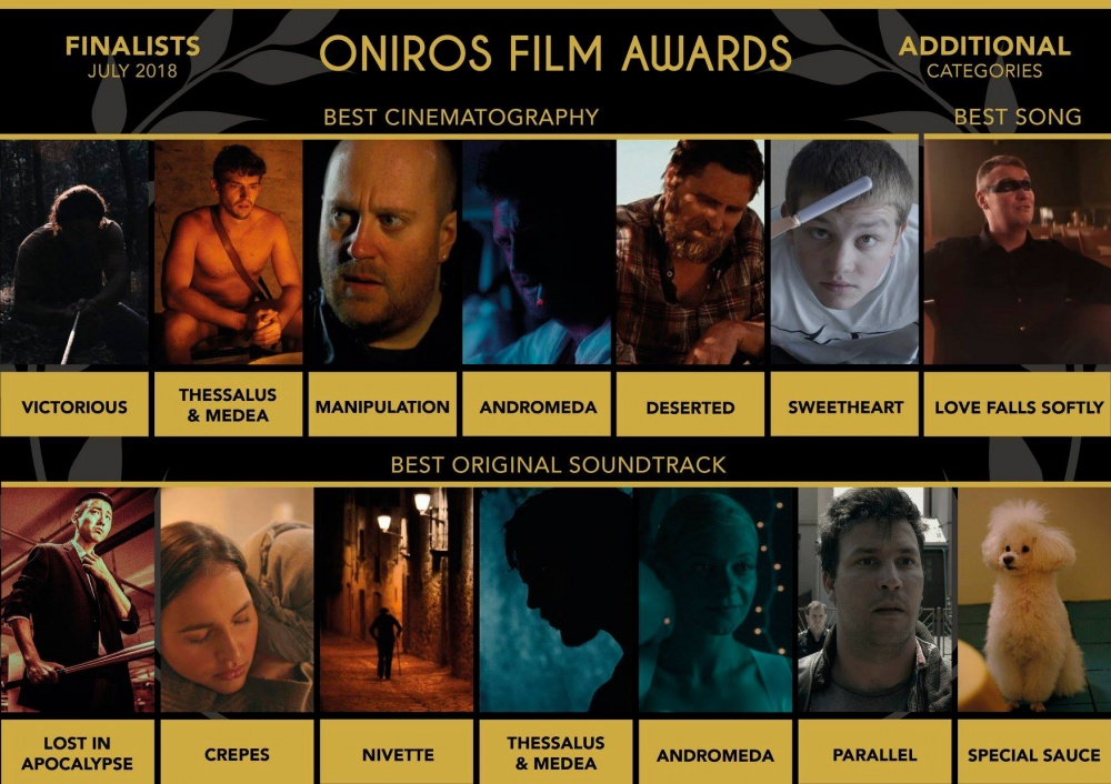 ONIROS FILM AWARDS - Love Falls Softly - Finalist Best Song - Joakim Lund - 2018
