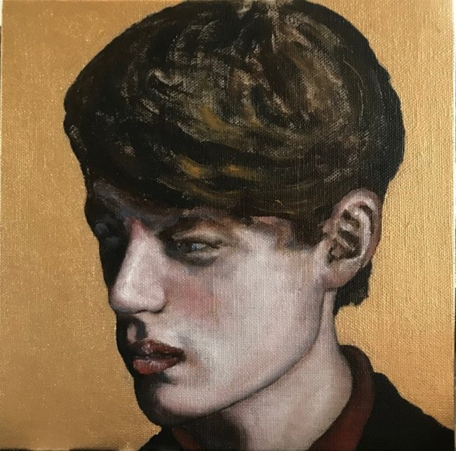 ICONIC YOUTH I - 2019. Oil on canvas by Joakim Lund